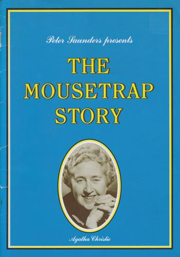 Peter-Saunders-autograph-The-Mousetrap-memorabilia-New-Ambassadors-Theatre-Agatha-Christie-play-producer-London-west-end-40th-anniversary-brochure-1992