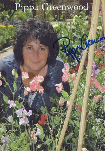 Pippa-Greenwood-autograph-signed-bbc-tv-memorabilia-gardeners-world- Gardeners-Question Time-rosemary and thyme