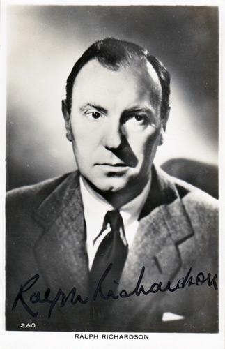Ralph-Richardson-Hollywood-movies-film-legend-autograph-signed-photo-memorabilia-cinema
