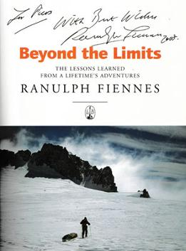 Ranulph-Fiennes-autograph-signed-book-Beyond-the-limits-lessons-learned--2000-adventure-explorer-signature