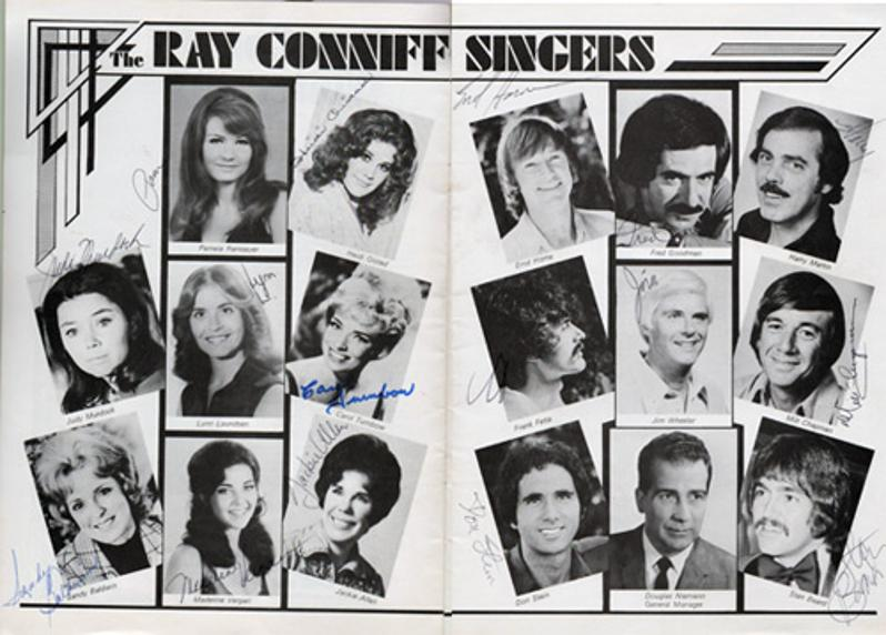 Ray-Conniff-autograph-signed-theatre-happiness-is-music-memorabilia-orchestra-the-ray-conniff-singers-backing-winter-tour-1974-swonderful-signatures