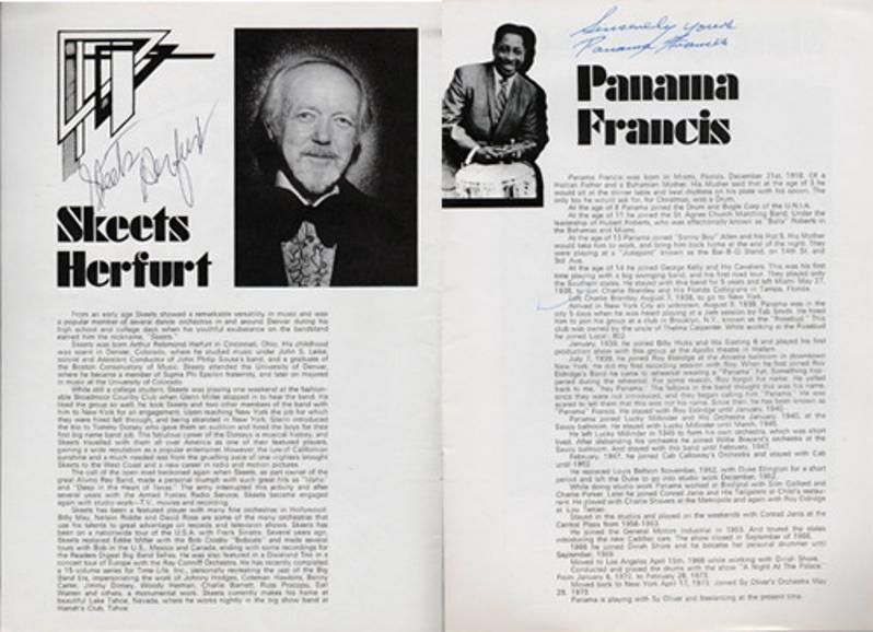 Ray-Conniff-autograph-signed-theatre-happiness-is-music-memorabilia-orchestra-winter-tour-1974-swonderful-skeets-herfurt-panama-francis-signature