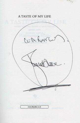 Raymond-Blanc-autograph-signed-book-autobiography-a-taste-of-my-life-tv-chef-Le-Manoir-aux-Quat-Saisons-michelin-signature