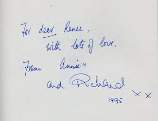 Richard-Briers-autograph-signed-TV-memorabilia-cook-book-Tom-Good-Life-Ever-Decreasing-Circles-signature