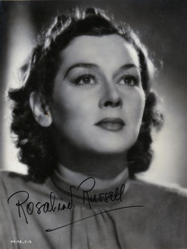 Rosalind-Russell-Hollywood-movie-film-legend-autograph-signed-memorabilia-Mourning-Becomes-Electra-His-Girl-Friday-Auntie-Mame-Rose-Gypsy-Mrs.-Pollifax-Spy-The-Women-Feminine-Touch