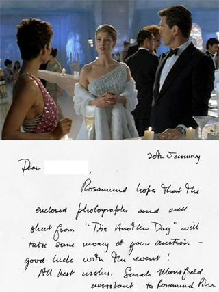 Rosamund-Pike-autograph-signed-007-James-Bond-Memorabilia-Die-Another-Day-Miranda-Frost-script-ice-palace-bar-scene-libertine-gone-girl-jack-reacher-thunderbirds-COA-letter-photo