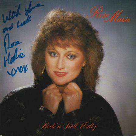 Rose-Marie-autograph-signed-pop-music-memorabilia-rock-and-roll-waltz-single-northern-ireland-singer-actress-go-for-it-rita-cold-fish