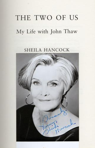 Sheila-Hancock-autograph-signed-autobiography-memorabilia-The-Two-of-Us-John-Thaw-Entertaining-Mr-Sloane-Barking-in-Essex-Annie-Sweeney-Todd-Rag-Trade-Brighton-Belles-Dr-Who-Kavanagh-QC