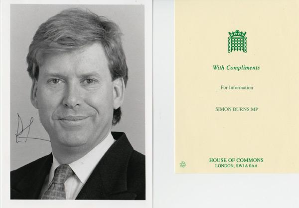 Simon-Burns-autograph-signed-political-memorabilia-conservative-party-uk-politics-tory-mp-sir-chelmsford-house-of-commons-minister-of-parliament