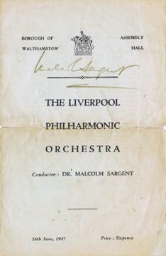 Sir-Malcolm-Sargent-autograph-signed-classical-music-memorabilia-liverpool-philharmonic-orchestra-dr-chief-conductor-the-proms-BBC-Symphony-Royal-Philharmonic