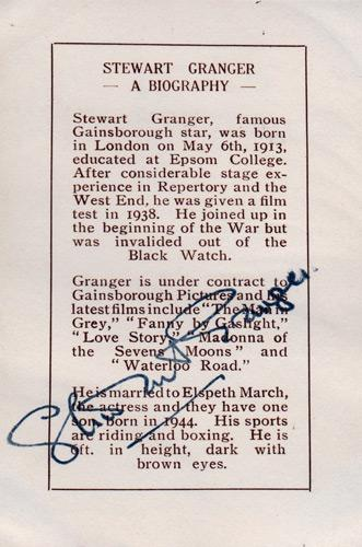Stewart-Granger-Hollywood-movies-film-legend-autograph-signed-photo-postcard-memorabilia-biography-signature