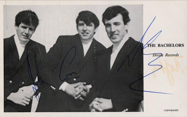 The-Bachelors-signed-music-memorabilia-singer-legend-autograph-I-Believe-Ramona-Sound-of-Silence-Diane-Conleth-Cluskey,-con-dec-declan-john-stokes