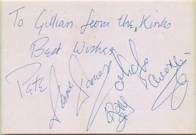 The-Kinks-autograph-the-kinks-memorabilia-ray-davies-autograph-dave-davies-autograph-mike-avory-autograph-pete-quaife-autograph-lola-You-Really-Got-Me-Sunny-Afternoon
