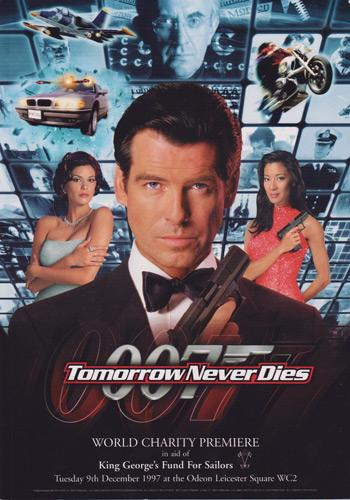 Tomorrow-Never-Dies-premiere-programme-007-memorabilia-James-Bond-memorabilia-Pierce-Brosnan-1977-Odeon-Leicester-Square-movie-memorabilia