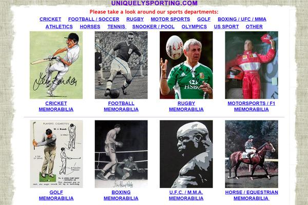 Uniquely-Sporting-web-site-home-page-Sports-Memorabilia-Unique-Signed-Collectables-autographs