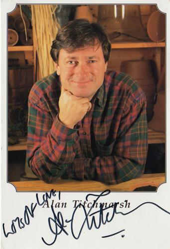 alan-titchmarsh-autograph-signed-ground-force-bbc-tv-memorabilia-gardener-gardening-garden-chelsea-flower-show-signature