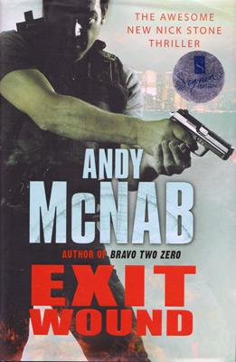 andy-mcnab-autograph-signed-nick-stone-novel-exit-wound-bravo-two-zero-first-edition-thriller-military-special-forces-army-sas-signature-bantam-press