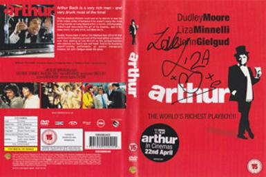 liza-minnelli-autograph-signed-movie-memorabilia-arthur-2-on-the-rocks-DVD-film-cinema-Linda-Morolla-signature