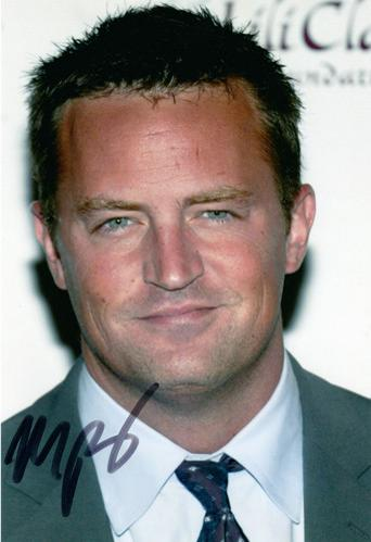 matthew perry autograph signed tv television movie memorabilia friends west wing whole nine yards Chandler Bing studio 60 sunset strip fools rush in odd couple
