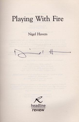 nigel-havers-autograph-book-signed-movie-TV-memorabilia-signature-autographed-autobiography-playing-with-fire-chariots-charmer-Dont-Wait-Up-Coronation-Street downton abbey passage to india