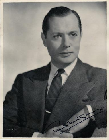 robert-montgomery-autograph-signed-Hollywood-movie-memorabilia-Inspiration-Night-Must-Fall-Here-Comes-Mr-Jordan-Lady-in-the-Lake-Mr-and Mrs-Smith